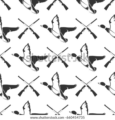 hunting seamless pattern with