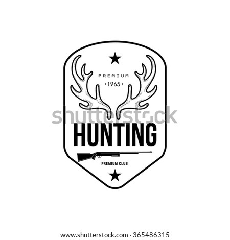 hunting vintage vector emblems