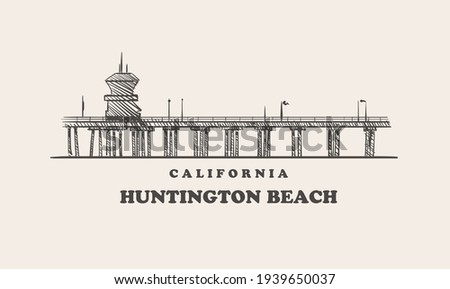 huntington beach skyline