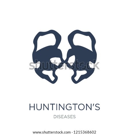 Huntington's disease icon. Trendy flat vector Huntington's disease icon on white background from Diseases collection, vector illustration can be use for web and mobile, eps10