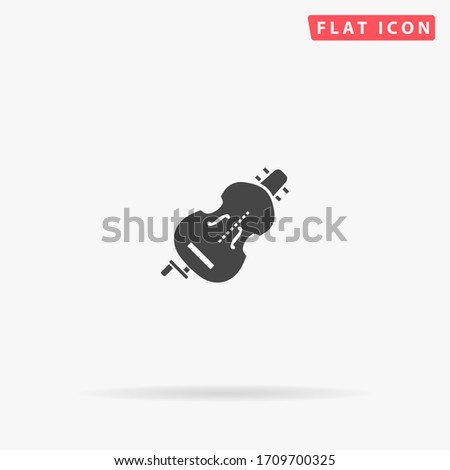 hurdy gurdy flat vector icon