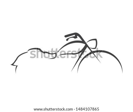 Hurley Motorcycle Logo Design Concept