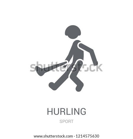 hurling icon. Trendy hurling logo concept on white background from Sport collection. Suitable for use on web apps, mobile apps and print media.
