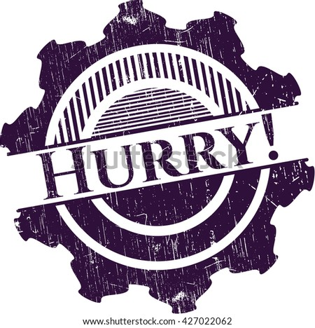 Hurry! rubber grunge texture seal