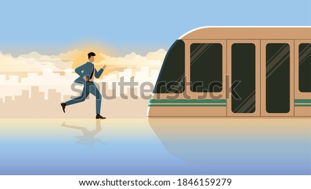 hurry up businessman run for