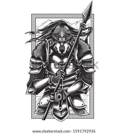 husaria warrior black and white