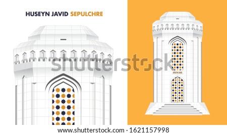 Huseyn Javid mausoleum Monument Nakhchivan, Azerbaijan ancient memorial  architechture