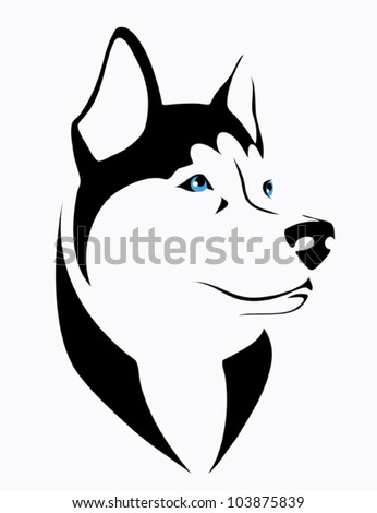 husky dog   vector illustration