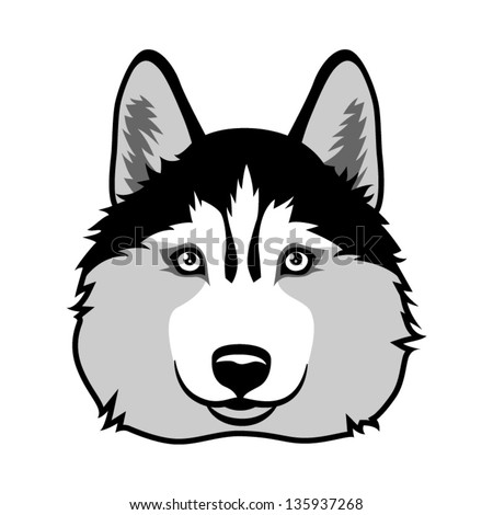 Husky Dog Clipart Husky Dog Vector Illustration
