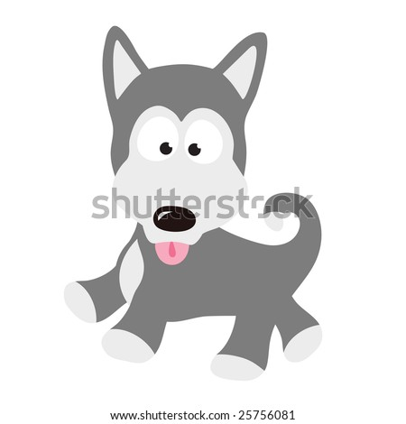 Husky Puppy Vector (more dogs in portfolio)