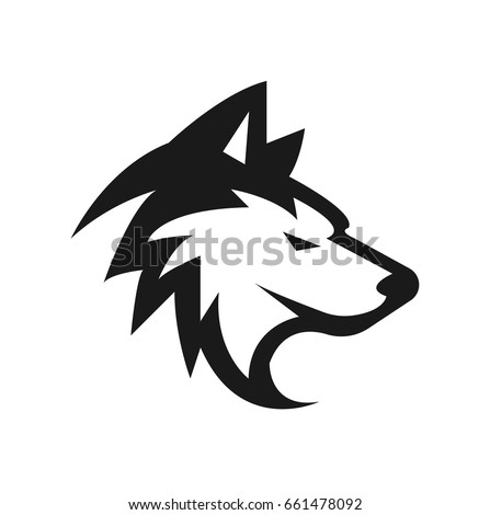 husky vector or dog vector