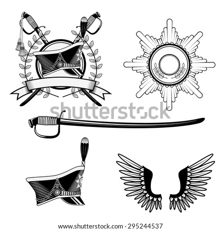hussar cap scimitar set of