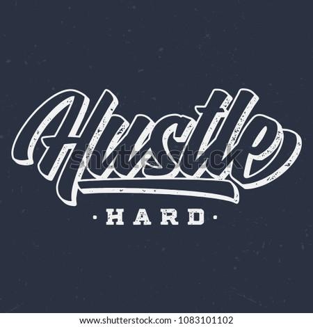 hustle hard   vintage tee...