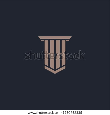 HX initial monogram logo with pillar style design Stock photo ©