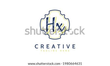 HX Initials, handwriting logo vector Stock photo ©