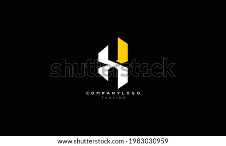 HX XH H AND X Abstract initial monogram letter alphabet logo design Stock photo ©
