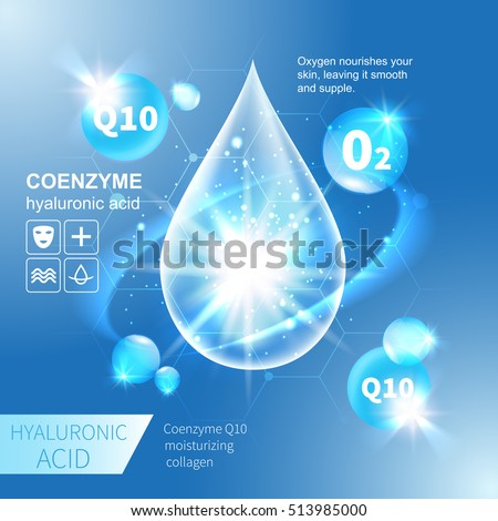 Hyaluronic Acid drop vector illustration
