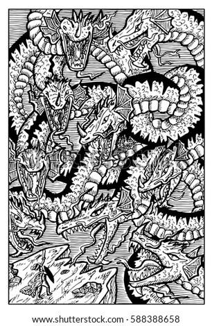 hydra  water serpent monster