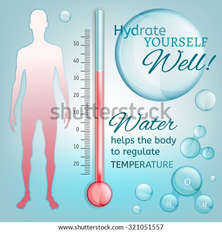 hydrate yourself well vector