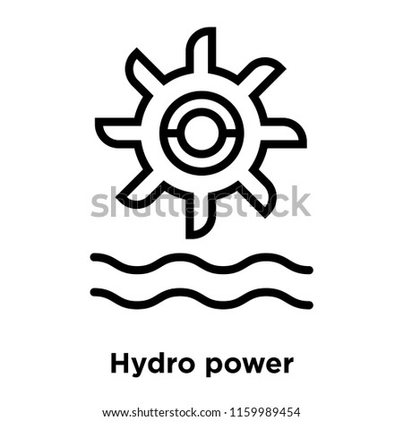 Hydro power icon vector isolated on white background, Hydro power transparent sign , line or linear sign, element design in outline style
