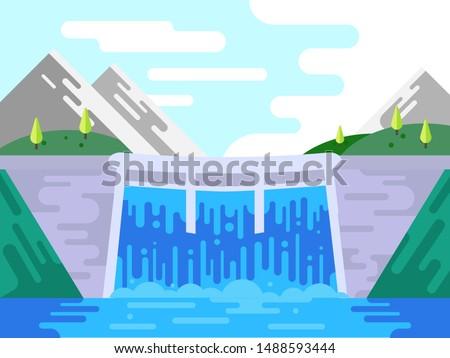 hydro power plant building