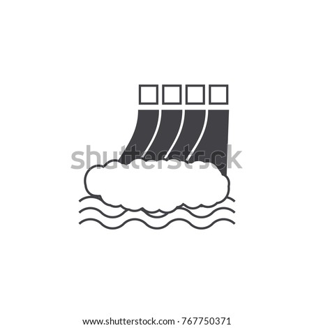 hydro power station icon on