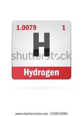 Hydrogen Symbol Illustration Icon On White Background