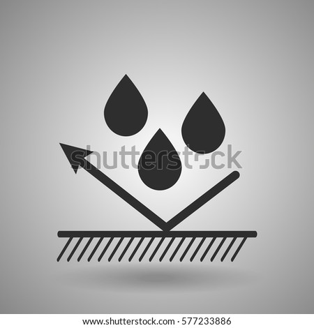 hydrophobic material icon