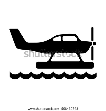 hydroplane vector icon, Seaplane