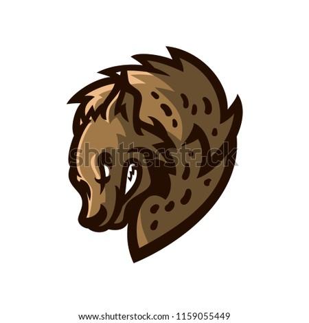 hyena esport gaming mascot logo template