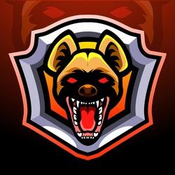 Hyena head mascot. esport logo design