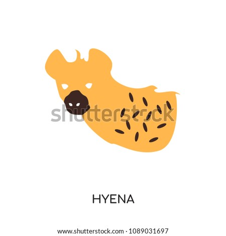 hyena logo isolated on white background for your web and mobile app design , colorful vector icon, brand sign & symbol for your business
