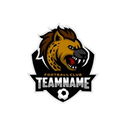 Hyena mascot for a football team logo. Vector Illustration.