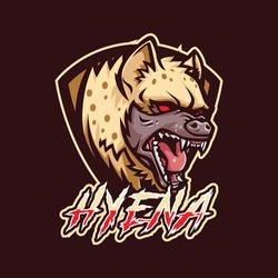 Hyena mascot logo for esport and sport