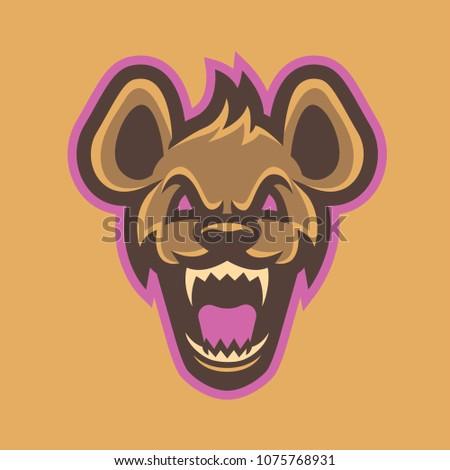 Hyena mascot, logo, symbol, icons vbector