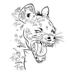 Hyena sketch and drawing in vector illustration,eps10