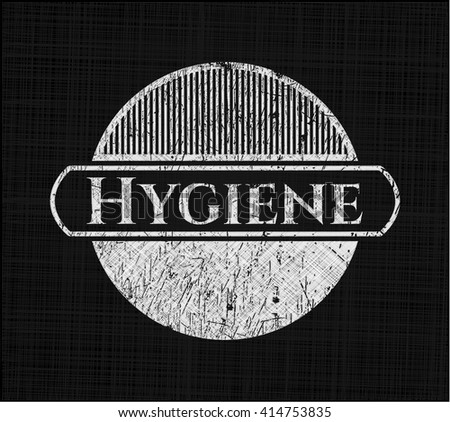Hygiene chalk emblem written on a blackboard