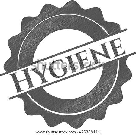 Hygiene pencil emblem
