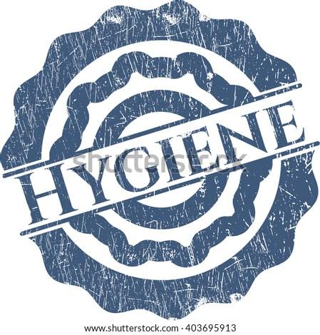 Hygiene rubber stamp