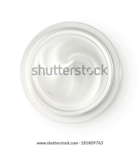 hygienic cream  top view vector