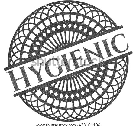 Hygienic with pencil strokes