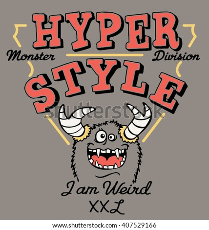 hyper style monster  vector