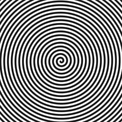 Hypnosis spiral background. Vector.