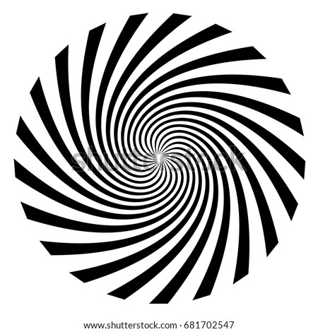 Hypnosis Spiral, concept for hypnosis, unconscious, chaos, extra sensory perception, psychic, stress, strain, optical illusion. On a white background.