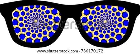 Hypnotic glasses optical illusion