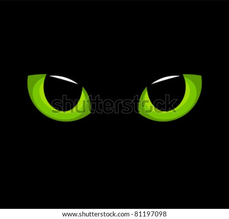 hypnotic green cat eyes in