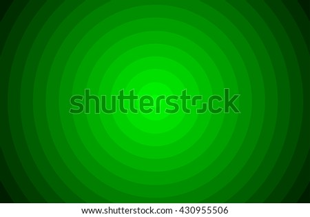 Hypnotic green circle colors in vector.