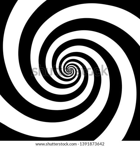 Hypnotic spiral background.Optical illusion style design. Vector illustration