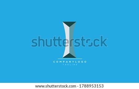 i abstract initials monogram