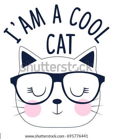 i'am a cool cat slogan and face